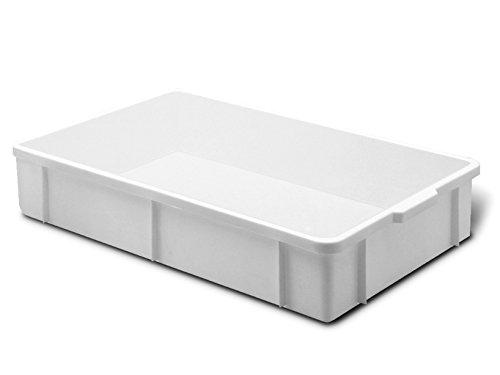 Giganplast Transport Bac pour Aliments, Plastique, Blanc, 60x40x11 cm