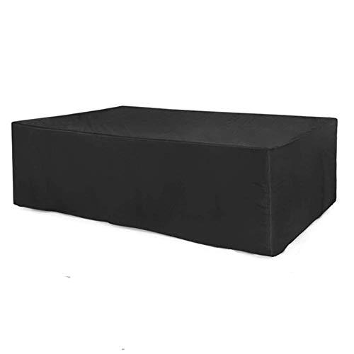 AWSAD Cubierta Impermeable para Muebles de Mesa y sillas de Comedor al Aire Libre, Cubiertas de Mesa para Exteriores, 30 tamaños (Color : Negro, Size : 130x130x90cm)