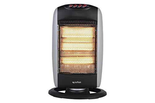 Estufa Halógena Oscilante que proporciona calor instantáneo de forma uniforme. Calefactor eléctrico...