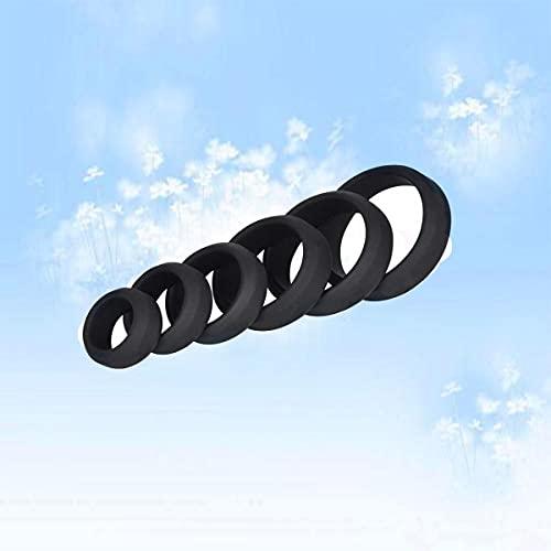 6pcs anillo de silicona impermeable suave decoración masculina