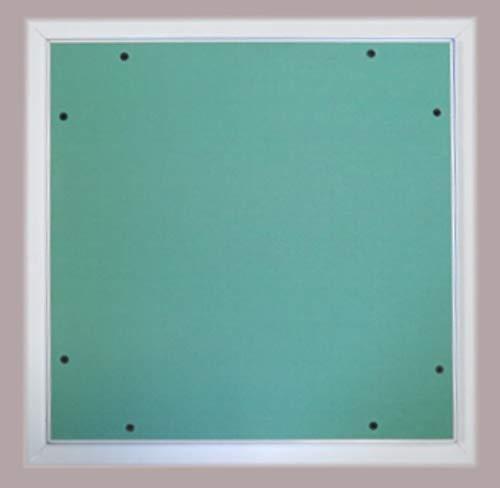 Trappe de visite 800x800mm 'The White Edition' avec cadre en aluminium et ouvrant en plaque de plâtre BA13