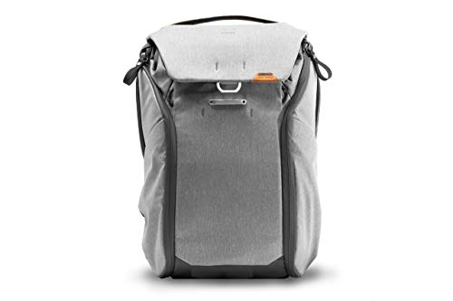 Peak Design Everyday Backpack 20L, MagLatch, Travel, Camera, Laptop Bag with Tablet Sleeve, Ash V2