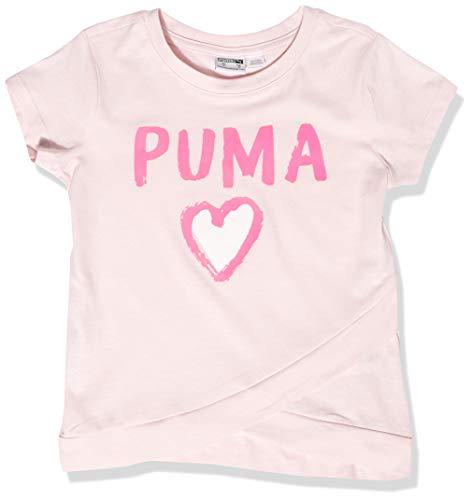 PUMA Girls' T-Shirt, Cherry Blossom, Small (4)