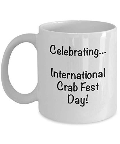 Día internacional del cangrejo, novedad, tazas de café con leche, extrañas y divertidas, regalos navideños, decoración de la taza, regalo de despedida para un compañero de trabajo, taza de cerámica de