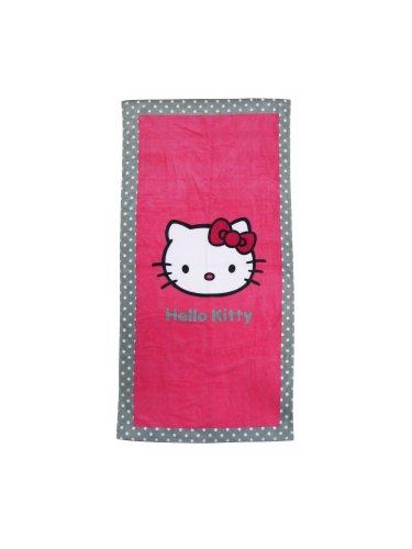 CTI 040445 Toalla de Playa Hello Kitty Salsa, Terciopelo de Algodón, 75 x 150 cm