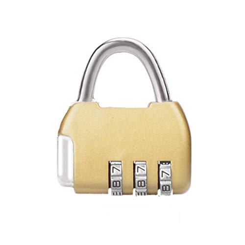 Yangwb2000 Kleine wachtwoordblokkering, kast hangslot rugzak bagage gym student slaapzaal deurslot, draad mini hangslot kop