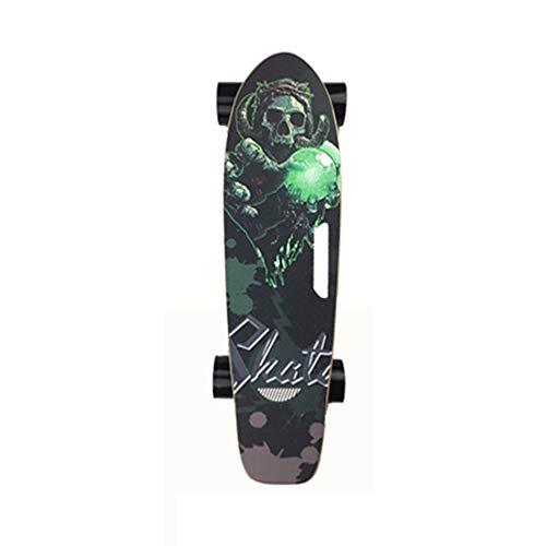 Tornado elektrisch Skateboard mit Fernbedienung, 18km/h Höchstgeschwindigkeit, 10km Max Range, Dual 500 W Motor, 5A Grade Maple mit aktualisiertem Board,6