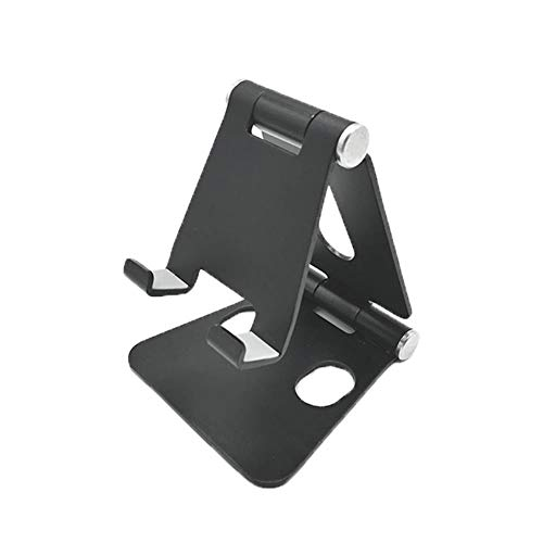 Mazu Homee soporte del teléfono móvil de la aleación de aluminio del soporte de la tableta del soporte doble del escritorio, soporte ajustable ergonómico del ordenador portátil del alto