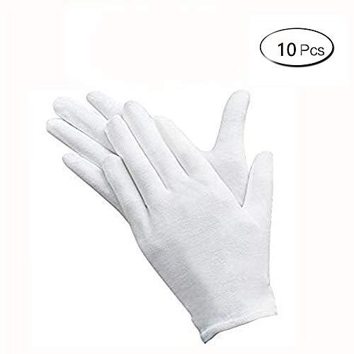 guanti cotone 5 paia di guanti bianchi in morbido cotone guanti moneta gioielli argento ispezione guanti per mani asciutte idratanti gioielli argento ispezione collezione moneta