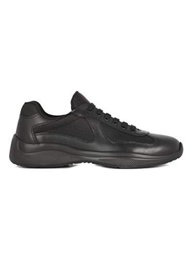 Luxury Fashion | Prada Heren 4E34006GWF0002 Zwart Leer Sneakers | Seizoen Permanent