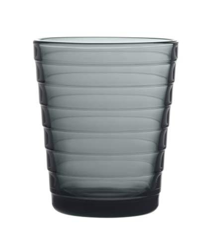 Iittala 1057028 Aino Aalto 2-er Set Wassergläser 22cl grau