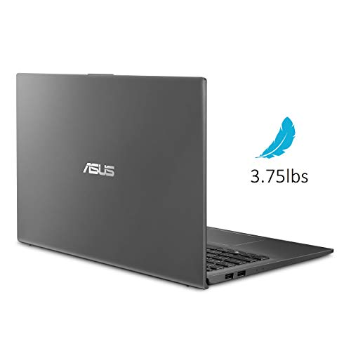"ASUS F512JA-AS34 VivoBook 15 Thin And Light Laptop, 15.6"" FHD Display, Intel i3-1005G1 CPU, 8GB RAM, 128GB SSD, Backlit Keyboard, Fingerprint, Windows 10 Home in S Mode, Slate Gray"