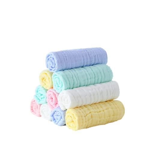 N / B Toallitas para bebés para el recién Nacido 10 Paquete, Super Suave 100% 6 Capas de algodón de Gasa, Absorbente Extra, Registro de bebé como Ducha