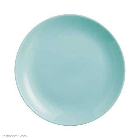 Dajar Dessertteller Hartglasgeschirr Kuchenteller Teller Diwali Turquoise 19 cm Luminarc, Blau