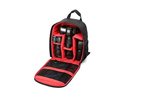 MILASIA wasserdichte, stoßfeste Tasche Rucksack für Kamera mit Stativhalterung für Spiegelreflexkameras, DSLR-Kameras, spiegellose Kameras, Blitzgeräte...