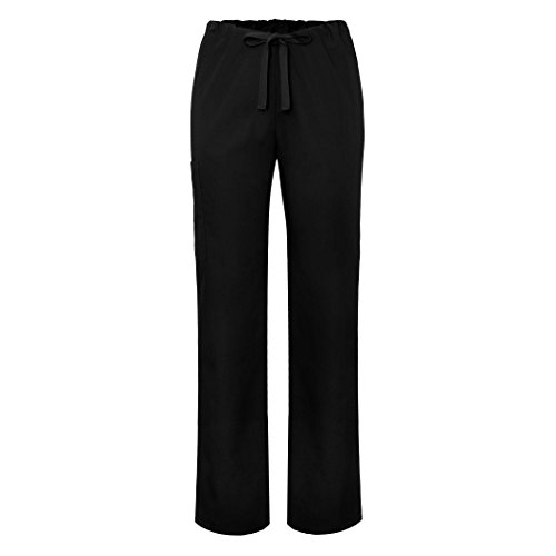 Medizinische Schrubb-Hosen – Unisex Krankenhaus-uniformhose - 504 - Black - M