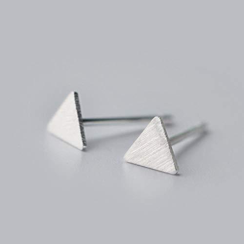 Pendientes Mujer Pendientes De Botón Geométricos Triangulares De Color Plateado De Moda para Mujer, Joyería De Fiesta