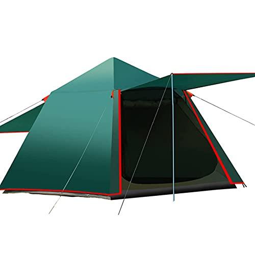 Tienda de campaña para 3 a 4 personas, carpa automática, tienda familiar, refugio para camping, senderismo, montañismo (color verde, tamaño: 3)