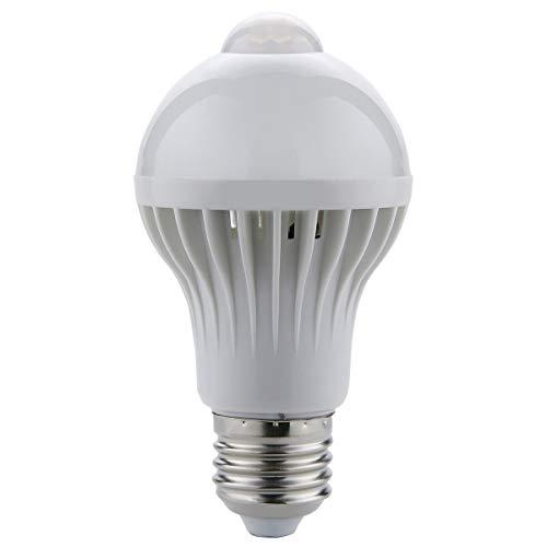 Greatangle Lampe de capteur de mouvement LED PIR 220 V AMPULE LED Auto Intelligent Intelligent PIR Corps Infrarrojos Capteur de Mouvement Lumière E27 prise blanc 5 W
