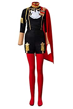 Dynso Three Houses Edelgard Von Hresvelgr Cosplay Costume Halloween Role Play Outfits,Medium Red