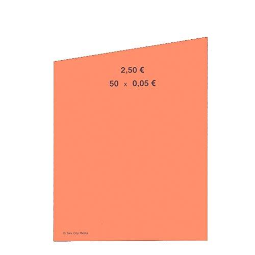 Münzrollpapier für Euro Münzen je 50x (0,05 € Papier) für Geldrollen/Rollgeld Münzrollenpapier/Handrollpapier/NEU