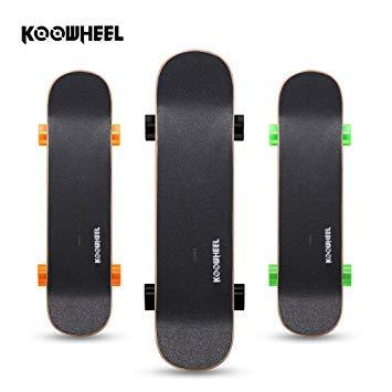 KOOWHEEL Elektro-Skateboard Double Rocker D3S Dual Brushless Hub Motor mit Fernbedienung 20 km/h in Schwarz