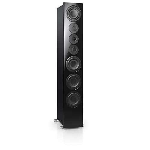 Nubert nuVero 140 Standlautsprecher   Lautsprecher für Stereo   HiFi Qualität auf höchstem Niveau   passive Standbox mit 3.5 Wege Technik Made in Germany   High End Standlautsprecher Schwarz   1 Stück