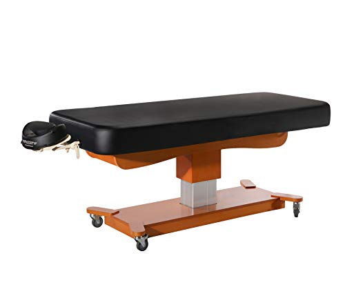 Master Massage Maxking Comfort Electric Massage Table Package Lift Table, 30', Black