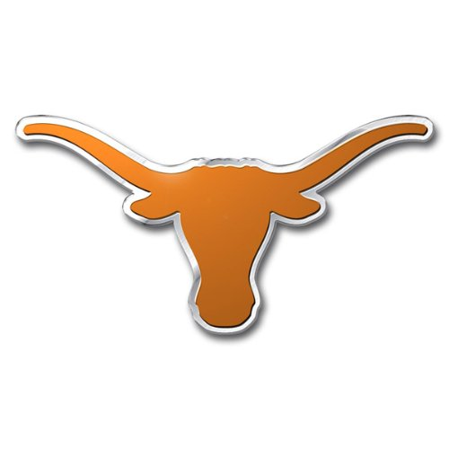 Patch Collection University of Texas Longhorns Team Logo Colored Aluminum Car Auto Emblem