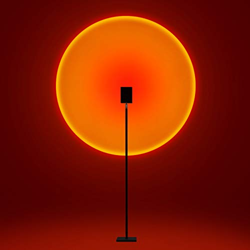 JPENG Lámpara de Proyección Arcoíris Sunset Lamp Lámpara de Proyección Sunset,Luz de Noche para Soporte de Suelo,Luz de Decoración de Dormitorio,lámpara de Pie