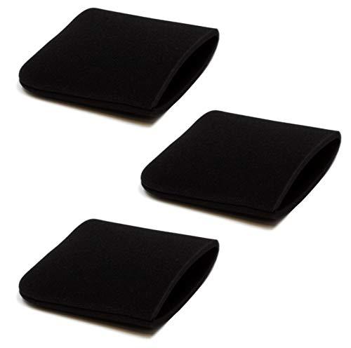 Schaumstoff-Überzug 3er-Pack, passend für CARAMBA Nass- und Trockensauger NTS CP-WDE 1511P, NTS CP-WDE 2012 Inox, NTS CP-WDE 2314-S Inox