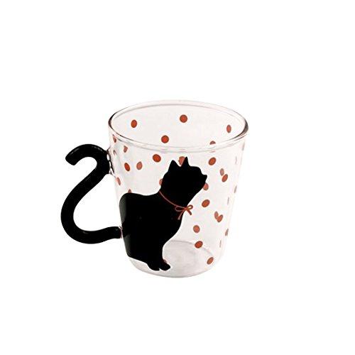 Mug en verre avec un chat