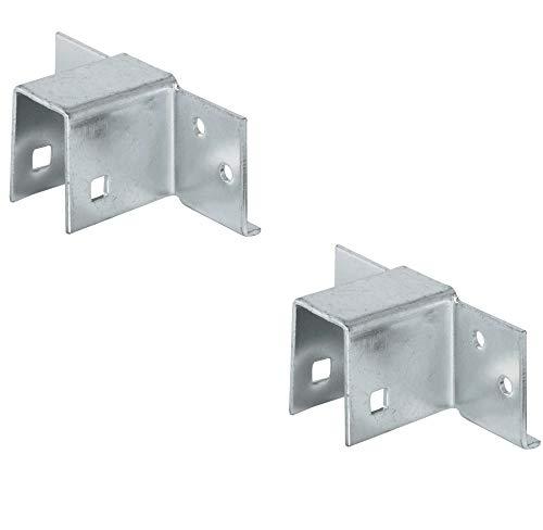 Gedotec Bett-Verbinder Metall Bettsockel-Verbinder 19 mm für Einzel- und Doppelbetten | Liegen-Beschlag Stahl verzinkt | Bettbeschlag zum Schrauben | 2 Stück - Möbelverbinder Lattenrost & Mittelbalken