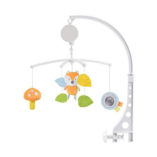 Asdomo Mobile musical en peluche pour berceau de bébé, jouet rotatif à suspendre, pour chambre de bébé garçon ou fille