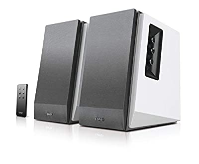 Edifier R1700BT Bookshelf Active Speakers with Bluetooth, RCA/AUX Input, EQ Control and Remote Control - White from Edifier