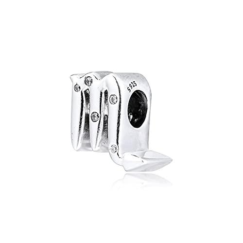 Pandora S925 colgante de joyería de plata esterlina encantos para pulseras collares brillantes cuentas del zodiaco escorpio joyería de plata esterlina envío gratis