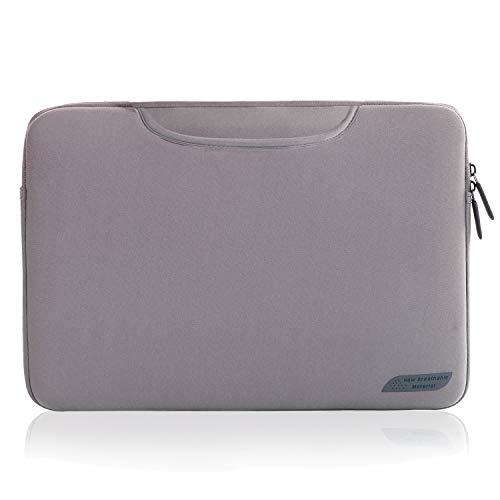 Cartinoe 14 Zoll Laptop Tablet Schutzhülle, mit zusammenklappbaren Tragegriffen Computertasche für MacBook Air 15, Surfacce, Dell ASUS Chromebook 14, Grau
