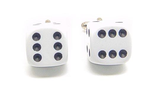 Jeff Jeffers Customs Blanc DÉ Hommes Mariage Argent Bouton DE Manchette Cuff Links, avec Sac Cadeau
