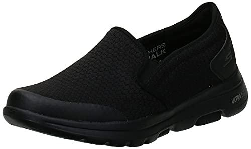 Skechers Men's Gowalk 5 Apprize-Double Gore Slip on Performance Walking Shoe Sneaker, Black, 10.5