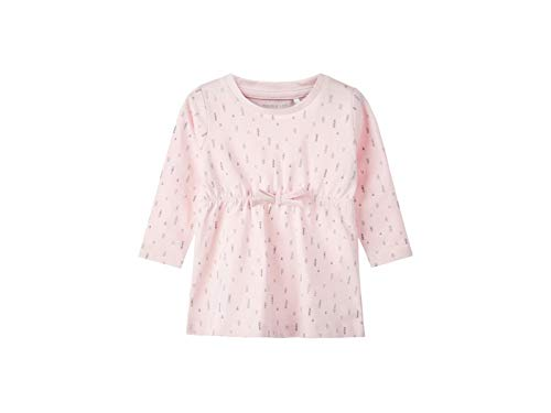 Name It Nbfdelucious Ls Tunic Noos Robe, Rose (Ballerina Ballerina), 52 (Taille Fabricant: 50) Bébé Fille