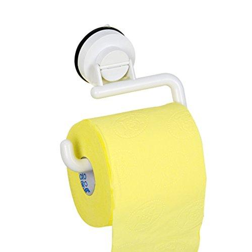 Plastic zuignap toiletpapier houder, eenvoudige enkele arm roll houder keuken badkamer opslag haak papier houder zonder waterdichte Cover-B 15x7.5cm(6x3inch)