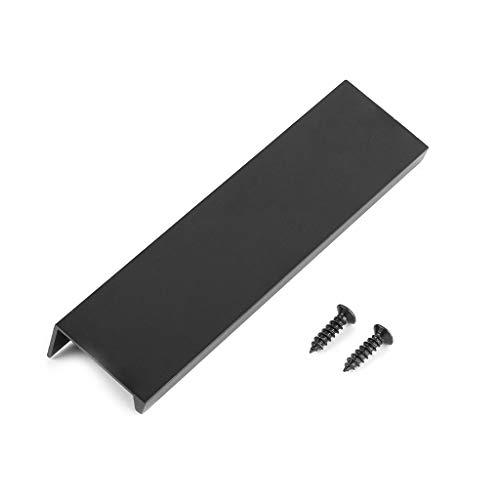 Qianqian56 moderne keukenkasten lang verborgen donker handvat aluminium legering open gat lade rand zwarte kast deurkruk 120