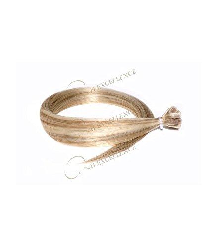 Extension Keratine - Lisse - Blond méché cendré N°613/14 - Extension a chaud - Excellence - RH : N°613-14 Blond méché cendré / Majirel : N°900 - 8.31, 40