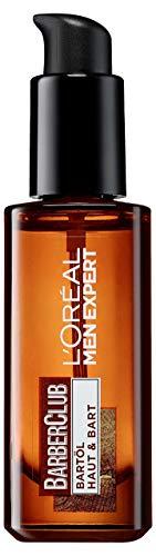 L'Oréal Men Expert Barber Club Bartöl, Ges&es Bartwachstum gepflegter und gebändiger Bartstil ohne Juckreiz mit Zedernholzöl (30 ml)
