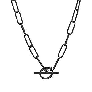 Liebeskind Berlin Halskette aus Edelstahl, Schwarz, 40 cm