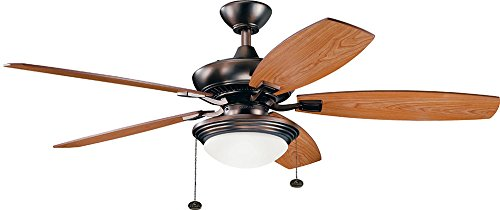"""Kichler 300026OBB Canfield Select 52"""" Ceiling Fan with LED Light, Oil Brushed Bronze"""