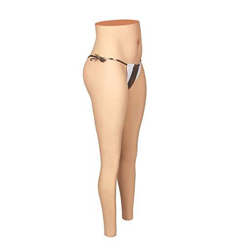 Liifun Crossdressing Silicone Pants Realistic Fake Vagina Underwear Hip Enhancer Trousers for Cosplay Transgender (S-Standard, 2)