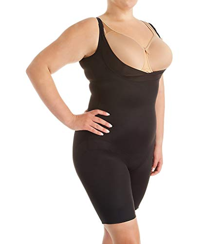Miraclesuit Shapewear Women's Plus Size Extra Firm Control Torsette Singlette w/Adjustable Straps Black 3X