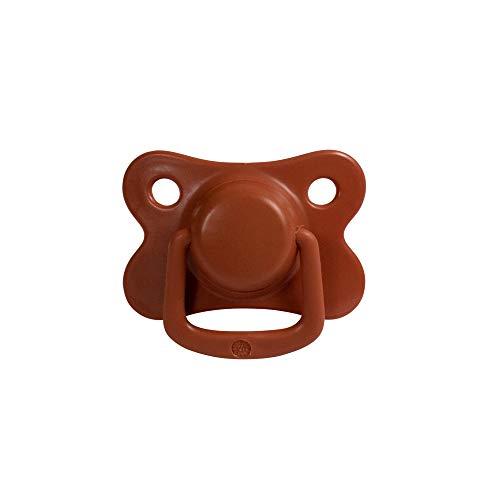Filibabba® Schnuller 2er Set | Baby Schnuller aus Silikon in schönen matten Farben | Kiefergerechte Schnuller | Dänisches Design | 2 Stück mit Schnuller Box (Rust, 6+ Monate)