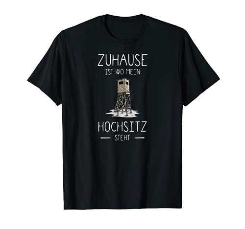 Mein Hochsitz I Jagd Wildschwein Rehwild Motiv für Jäger T-Shirt